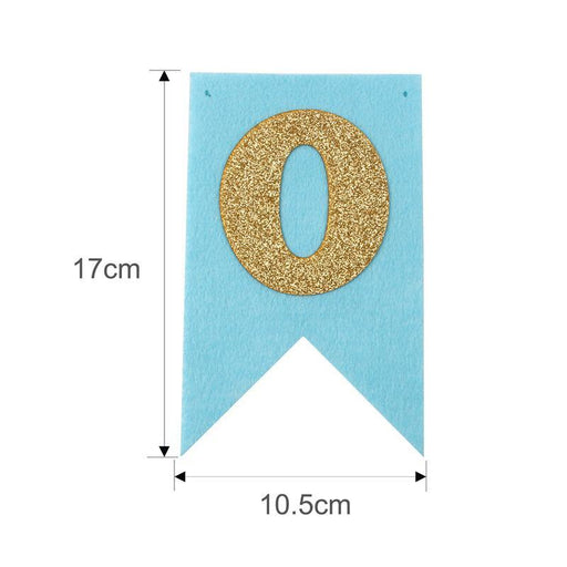 Banners - First Birthday High Chair Banner - Blue And Gold