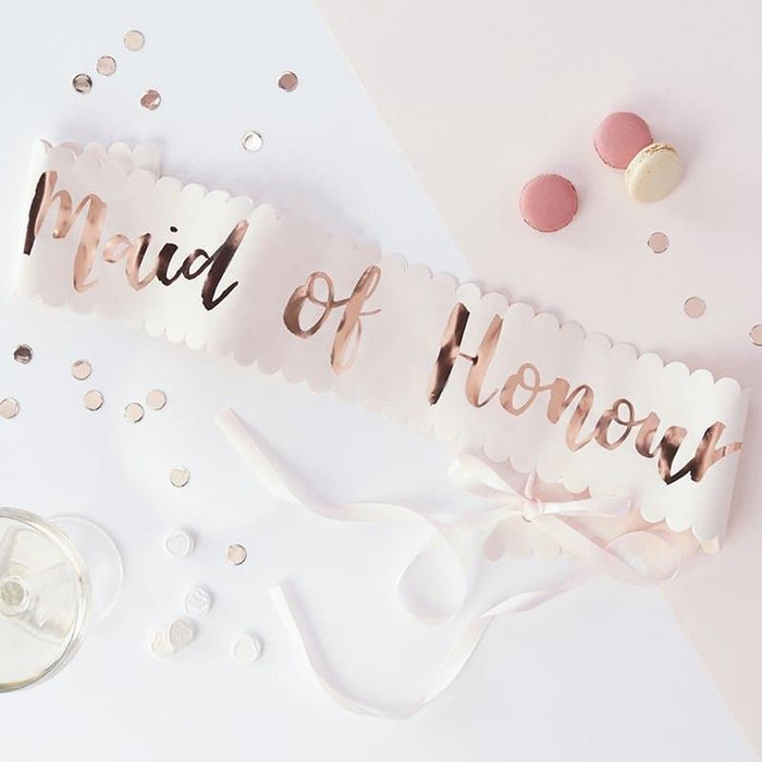 Decoration Kits - Bridal Shower Bridal Party Sash Set