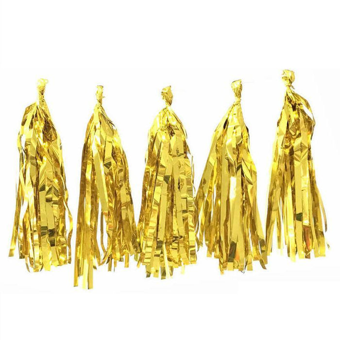 Hanging Decorations - Gold Party Tassels
