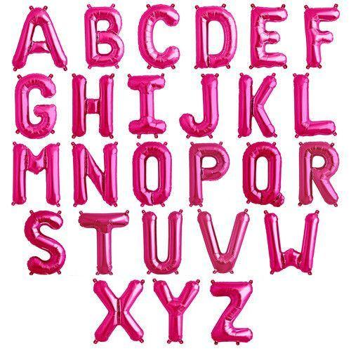 Hot Pink Foil Letter Balloon balloon arch and garland shimmer and confetti balloons unicorn baby shower bridal shower party supplies birthday decoration first