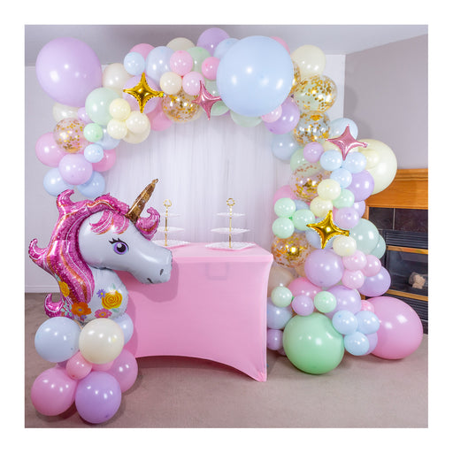 16ft Pastel Rainbow Unicorn Balloon Arch and Garland Kit