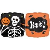 "18"" Skeleton and Pumpkin Boo!"