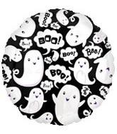 "18"" Halloween Boo Ghosts Balloon"