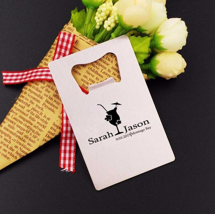 Party Favors - Personalized Credit Card Bottle Opener