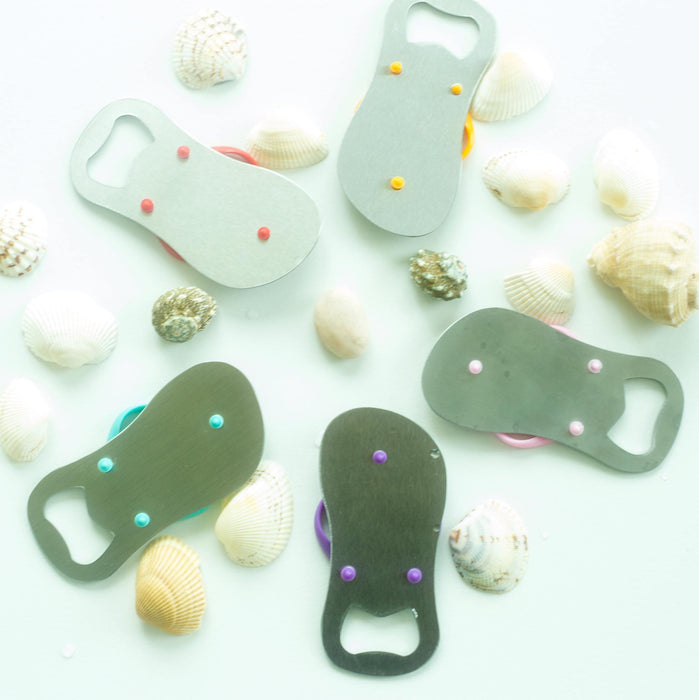 Party Favors - Personalized Engraved Flip-Flop Bottle Openers
