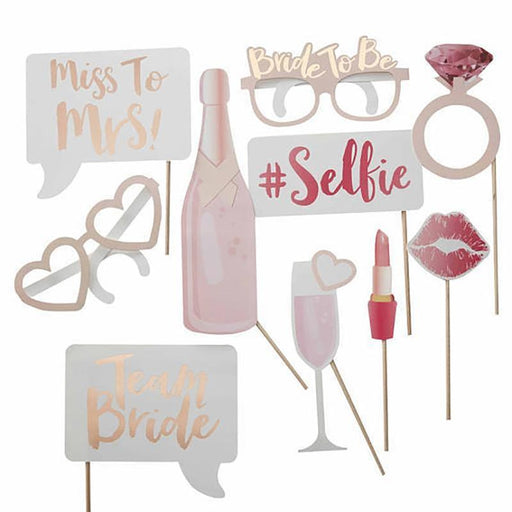 Photo Booth Props - Bridal Shower Photo Booth Props Set