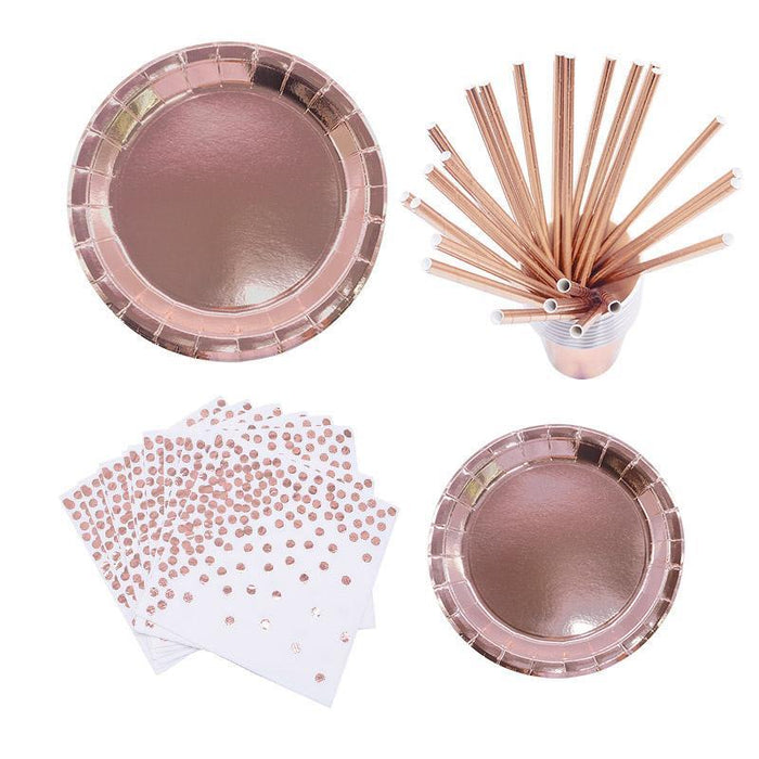 Rose Gold Party Tableware Set