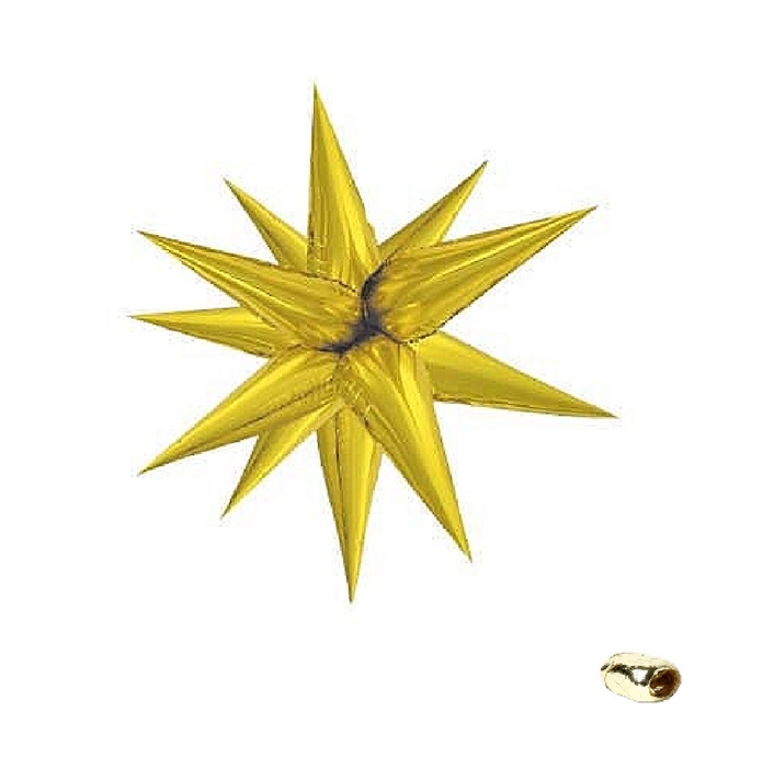 Gold Magic Star Balloon