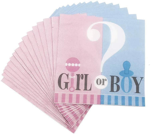 Tableware - Girl Or Boy Gender Reveal Party Napkins 12ct