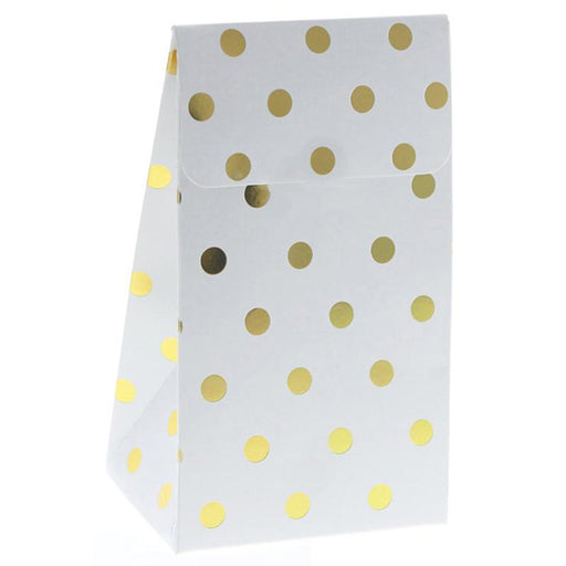 Tableware - Gold Polka Dot Party Bags 12ct