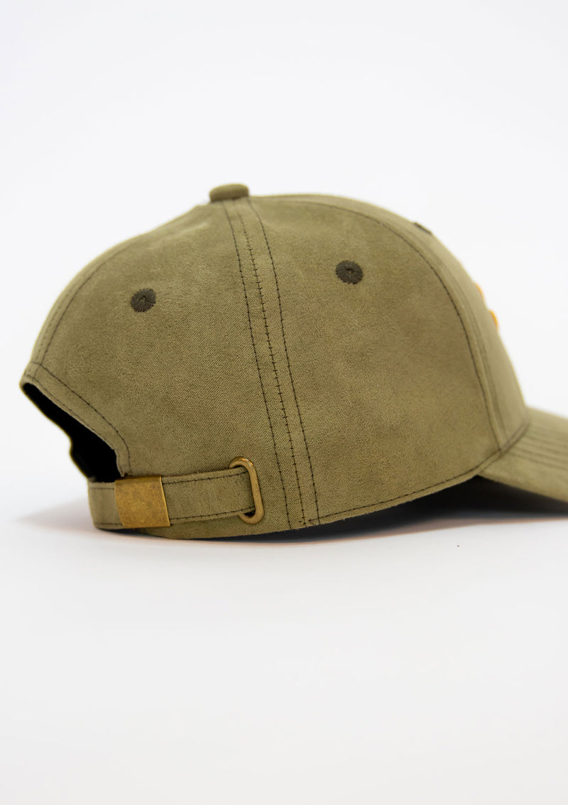 Bawah Caps - Embroidered Suede - Ivy - Caps - Fashion