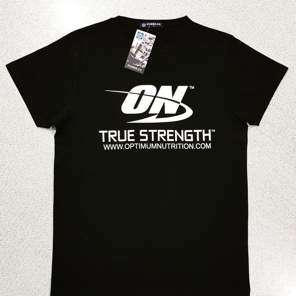 Optimum Nutrition T-Shirt Dark Black - Supplement Dealz