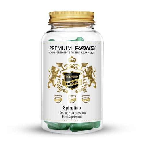 PREMIUM RAWS - Spirulina Capsules | 500mg BBE JAN TO JUL 2020 - Supplement Dealz