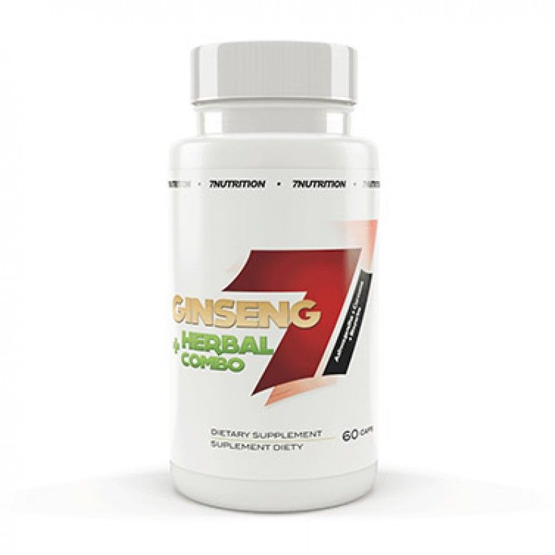 7 NUTRITION Ginseng & Herbal Combo (60 Caps) - Supplement Dealz