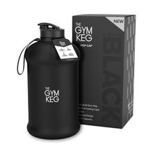 THE GYM KEG WATER BOTTLE 2200ML (2200ml / Stealth Black) - Supplement Dealz