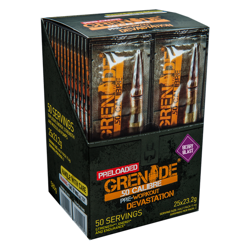Grenade 50 Calibre Preloaded 25x23.5g Sticks - Supplement Dealz