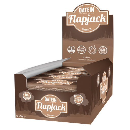 Oatein Low Sugar Flapjack 12x70g - Supplement Dealz