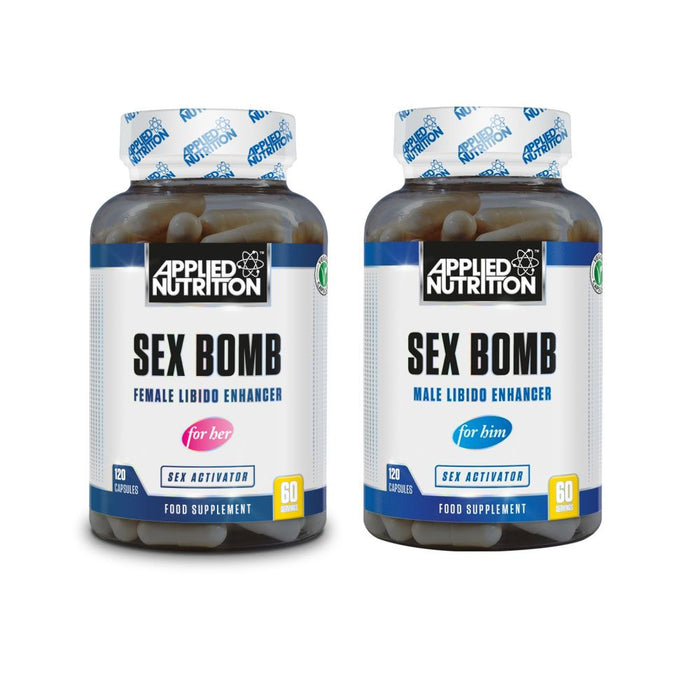APPLIED NUTRITION Sex Bomb Libido Enhancer (120 Caps) - Supplement Dealz