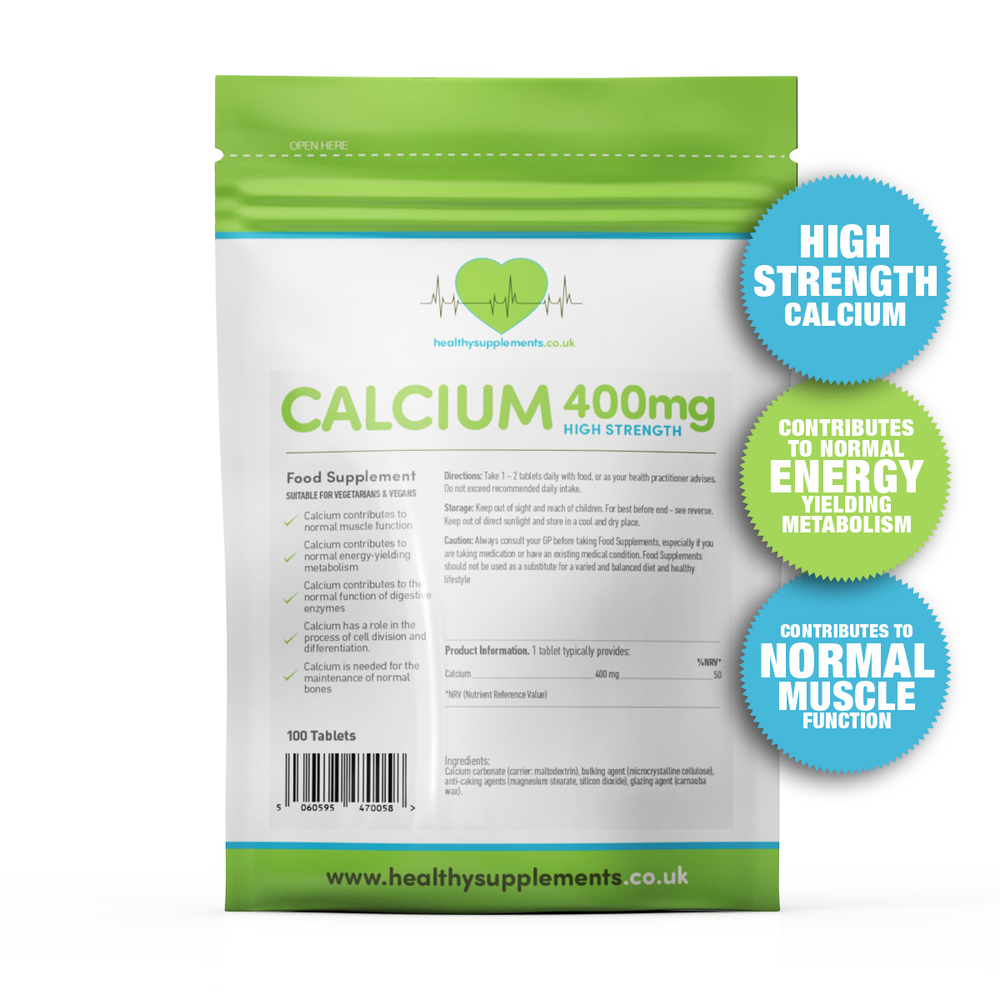 Calcium 400mg 100 Caps - BBE: 05.20 - Supplement Dealz