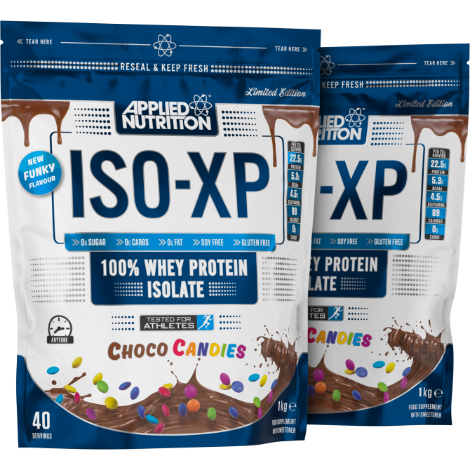 APPLIED NUTRITION ISO-XP 1KG - Protein Isolate -7 New Funky Flavours - Supplement Dealz