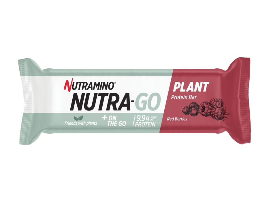 Nutramino Nutra-Go - Plant Protein Bar x15 (Red Berries) - BBE: 07/20 - Supplement Dealz
