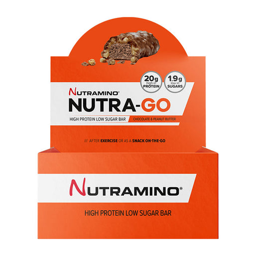 Nutramino Nutra-Go Bars - Chocolate & Peanut Butter 12x64g- BBE: 07/20 - Supplement Dealz