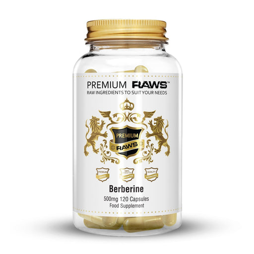 Premium Raws Berberine 500mg (120 Capsules) - Supplement Dealz