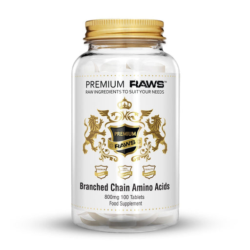 Premium Raws Branched Chain Amino Acid 800mg (100 Tablets) - Supplement Dealz
