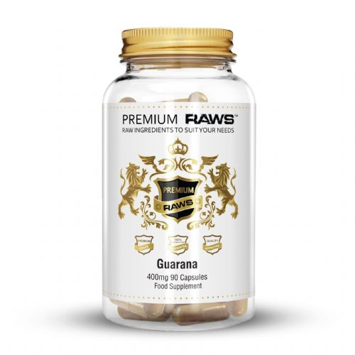 Premium Raws Guarana 400mg (90 Capsules) - Supplement Dealz