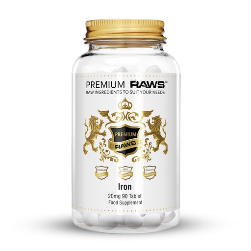 Premium Raws Iron 20mg (90 Tablets) - Supplement Dealz