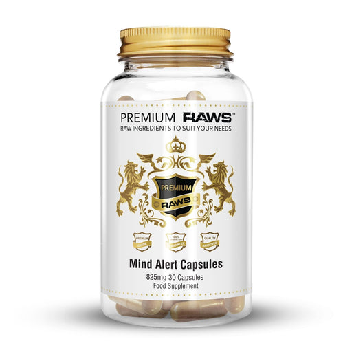 Premium Raws Mind Alert 825mg (30 Capsules) - Supplement Dealz