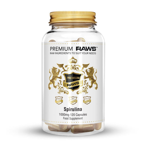 Premium Raws Spirulina 500mg (120 Capsules) - Supplement Dealz