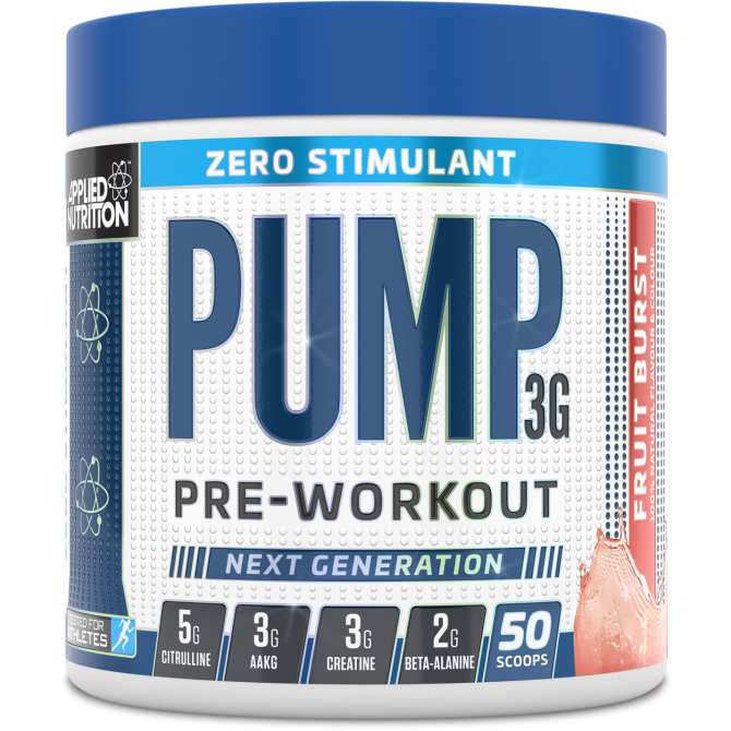 APPLIED NUTRITON Pump 3G - Zero Stimulant 375g - Supplement Dealz