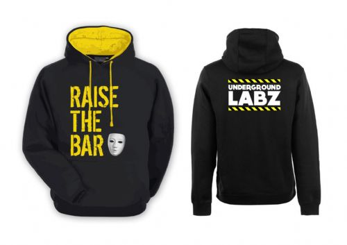 UNDERGROUND LABZ Black and Yellow Hoodie - Supplement Dealz