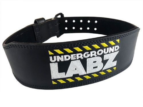 UNDERGROUND LABZ Leather Gym Belt (Black) - Supplement Dealz