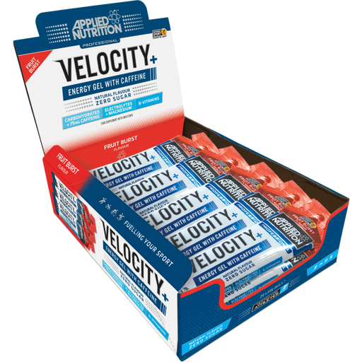 Velocity+ Caffeine Isotonic Energy Gel Box 20 x 60g Gels - Supplement Dealz