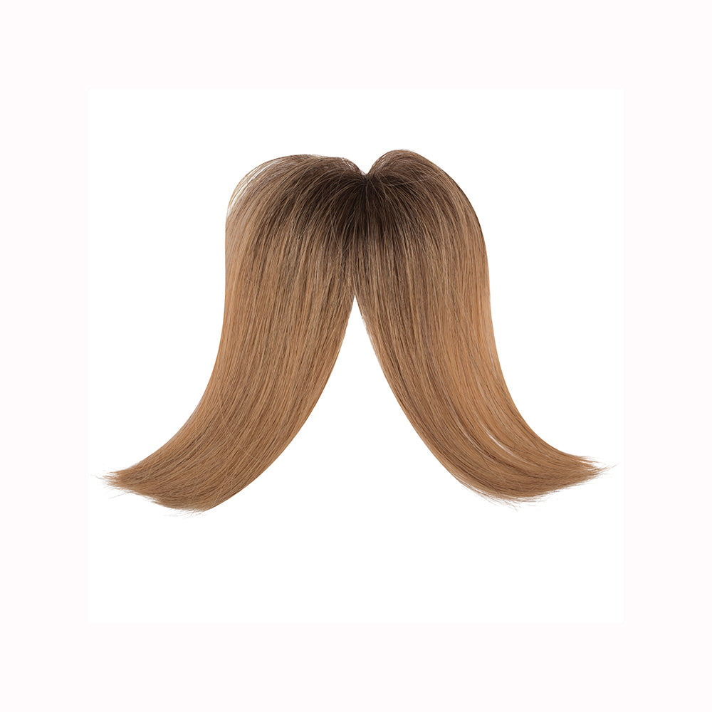 Gringe 1 piece bangs clip-ons Blonde ombre