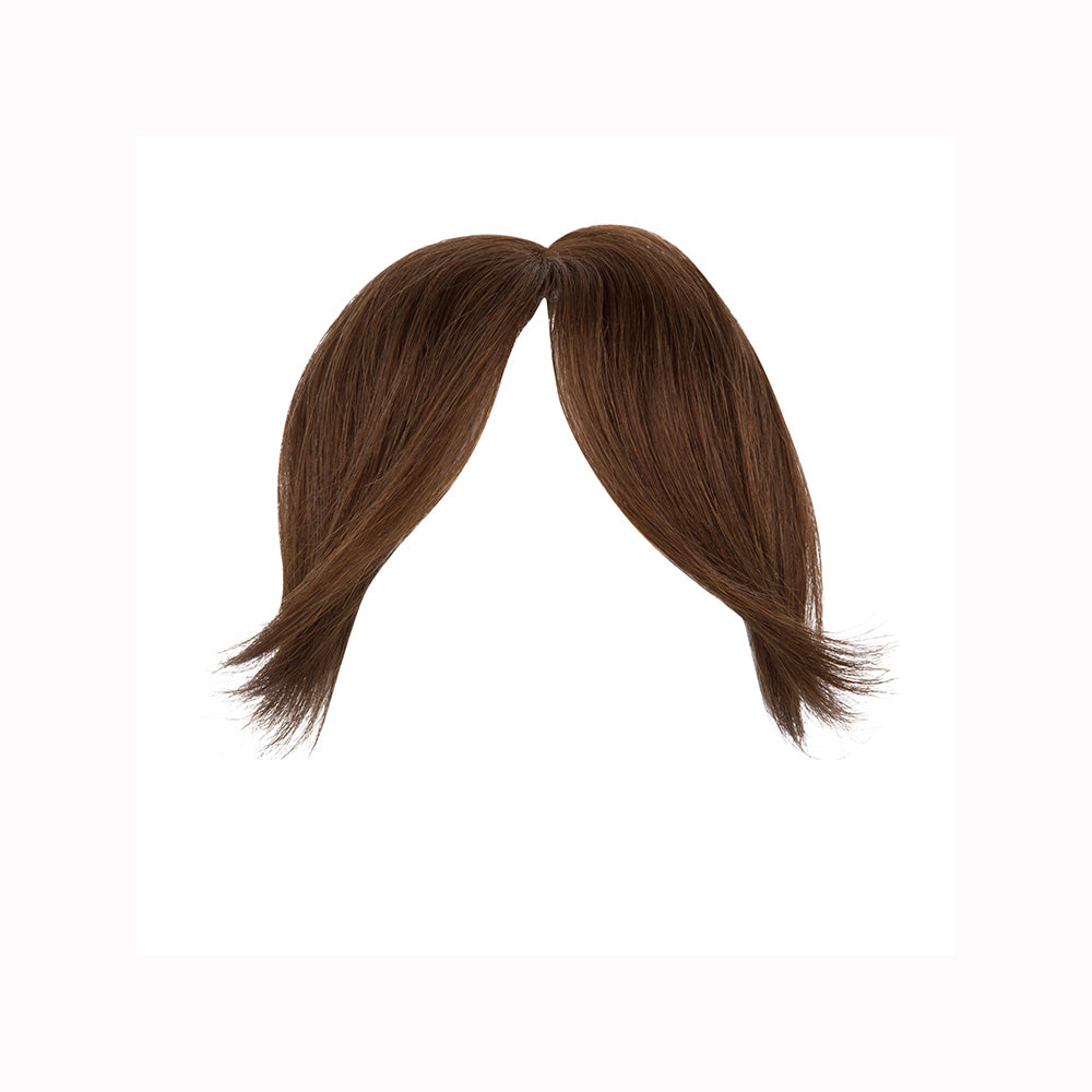 Gringe 1 piece bangs clip-ons chocolate