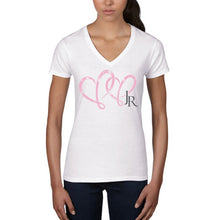 Load image into Gallery viewer, What Love Is All About White V-Neck Front 1