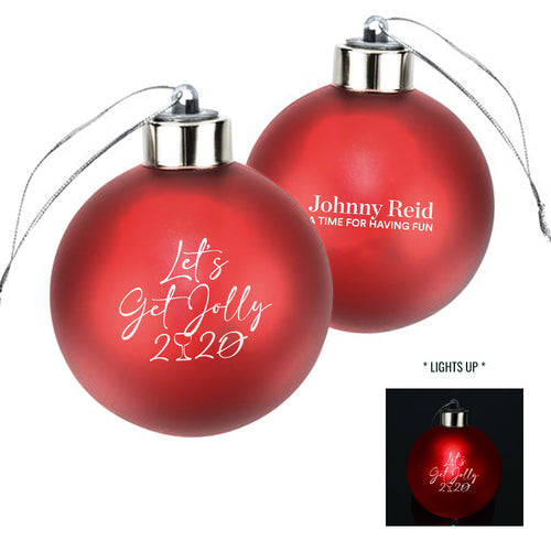Let's Get Jolly Christmas Ball Ornament