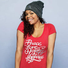 Load image into Gallery viewer, Peace Love Hope & Happiness Tee