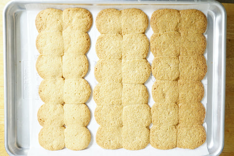 Kernza shortbread with different inclusions of wheat
