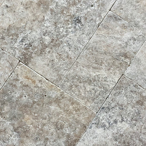 Travertine Silver Small French 12 mm