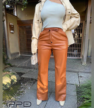 Load image into Gallery viewer, Bianca Flare Leg Vegan Leather Pants