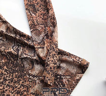 Load image into Gallery viewer, Natalie Fitted Python Print Top