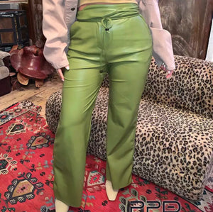 Bianca Flare Leg Vegan Leather Pants