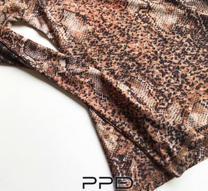 Natalie Fitted Python Print Top