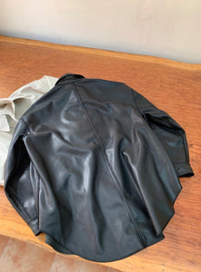 Trish Oversized Faux Leather Jacket