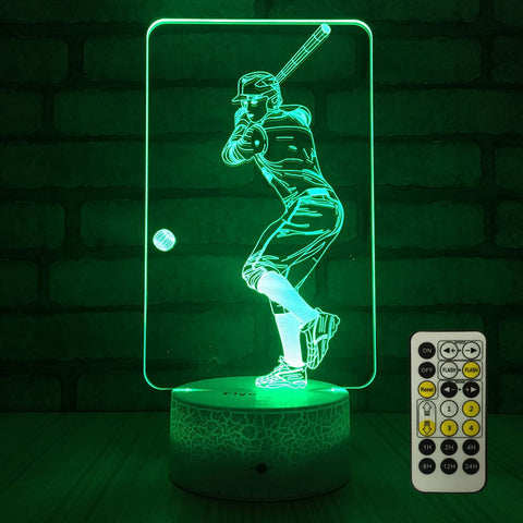 Baseball Color Changing Lamp