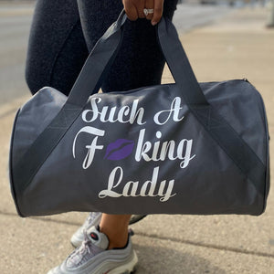 Such A Fucking Lady Getaway Bag - Purple Lip